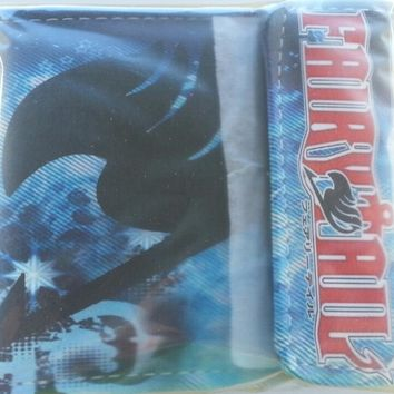 Brand New Japan Anime Fairy Tail Cosplay Leather Blue Wallet