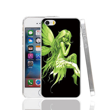 Tinker Bell Gothic Punk Fairy cell phone Case Cover for iPhone 4 4S 5 5S 5C SE 6 6S Plus 6SPlus