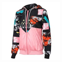 Pink Hoodies ADIDAS JACKET WINDBREAKER OUTWEAR FOR WOMEN AP9547