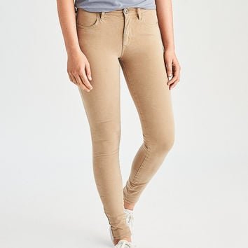 AEO Denim X4 Hi-Rise Jegging, Tan