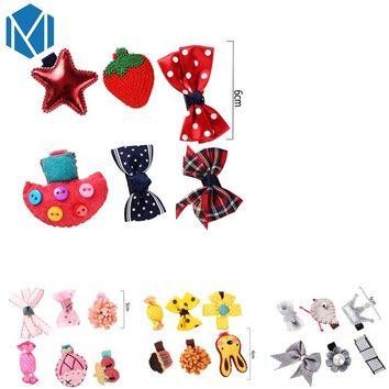 M MISM 6Pcs Star Flower Ribbon Bow Candy Sweet Hairgrip Lovely Hairpins Hair Accessories Set Hair Clip Girls Kid Children Gift