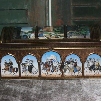 Lebkuchen-Schmidt Nuremberg Castle decorative tin, royalty, Medieval decor, collectible tins, German tin, sewing box