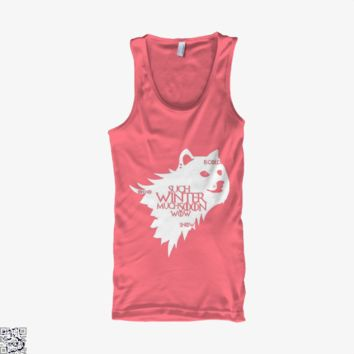 Game Of Thrones Doge Such Winter Much Soon Wow, Game of Thrones Tank Top