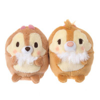 Disney Store Japan Chip & Dale Ufufy Mini Plush Set New with Tags