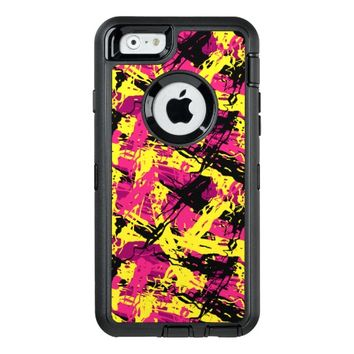 Modern Abstract Brushstrokes Pattern OtterBox Defender iPhone Case
