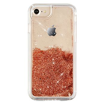 Rose Gold Stars Dual Glitter iPhone Case