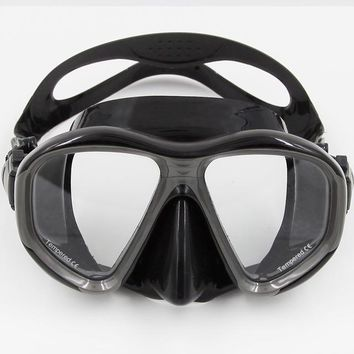 Swimming Pool beach Diving Mask + Tempered Glass Lens Professional Swimming Goggles For Underwater Snorkel Swimming Set Accessories EquipmentSwimming Pool beach KO_14_1
