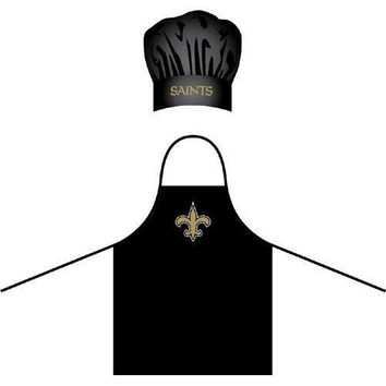 New Orleans Saints NFL Barbeque Apron and Chef's Hat