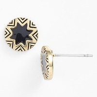 Women's House of Harlow 1960 Sunburst Engraved Stud Earrings