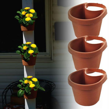 3 Piece Drain Pipe Planter Set by Pure Garden