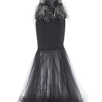 Tulle And Crepe Embellished Gown | Moda Operandi