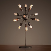 Sputnik Filament Table Lamp Aged Steel
