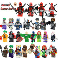 Single sale DC marvel avengers super heroes minifigures deadpool Harley Quinn Classic Figures Collection Children Gift toys
