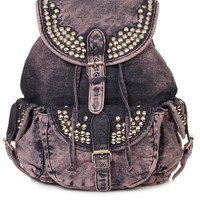 Overdyed Denim Backpack - Urban Education - Collections - Topshop USA
