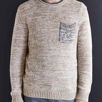 CPO Marled Contrast Pocket Crew-Neck Sweater-