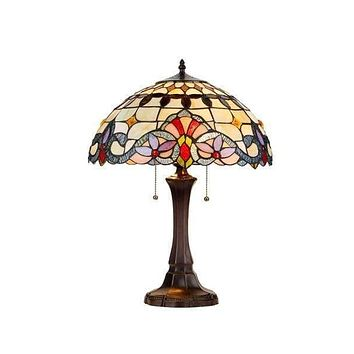 Umbrella Tiffany- Styled Striking Victorian Table Lamp by