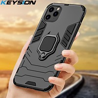 KEYSION Shockproof Armor Case For iPhone 11 Pro 11 Pro Max Anti-fall Phone Back Cover for Apple iPhone 11 Xs Max 6S 7 8 Plus XR