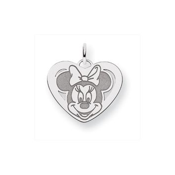 Disney's Sterling Silver Minnie Mouse, Heart Charm