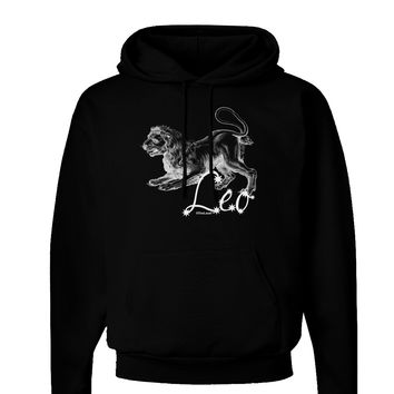 Leo Illustration Dark Hoodie Sweatshirt