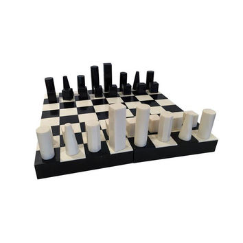 Bone and Horn Chess Set