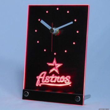 Houston Astros: Table Desk 3D LED Clock; 5 colors available