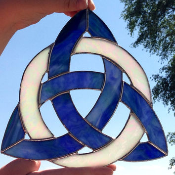 Stained Glass Celtic Knot Triquetra