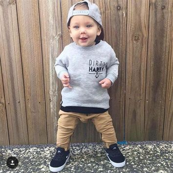 2017 New Autumn baby boy clothes baby clothing set fashion cotton Long sleeved t-shirt+pants 2pcs newborn baby boys clothes set