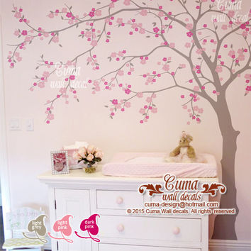 cherry blossom wall decal wall decals flower vinyl wall decals