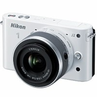 Nikon 1 J2 10.1 MP HD Digital Camera with 10-30mm VR Lens (White)