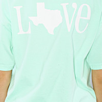 charlie southern: classic state love spirit tee - mint [ texas]