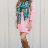 My Fall Princess Sweater Dress: Pink