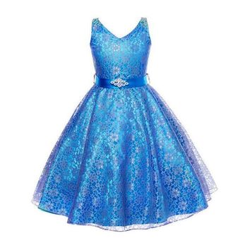 Girls tulle bridesmaid Lace Dress Birthday Evening Wedding Party Dresses kids frock designs 8 10 12 14 16 Years