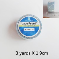 Hot Sales 3/4inch* 3yard Blue Wig Lace Front Support Double-Sided Adhesives Tape For Lace Wig/PU Hair Extension/Toupee