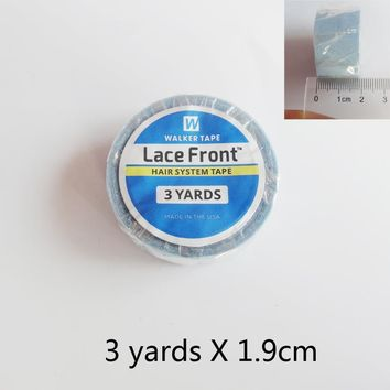 3 yards1.9cm width lace front super Blue tape for toupee and wig pre-tape hair extensions