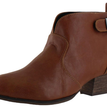 Chelsea Crew Angelina Women's Ankle Buckle Booties Boots Vegan