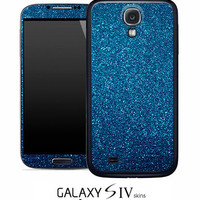 Blue Glitter Skin for the Samsung Galaxy S4, S3, S2, Galaxy Note 1 or 2