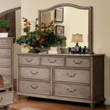 Effortlessly Stylish Transitional Style Dresser, Rustic Natural Brown