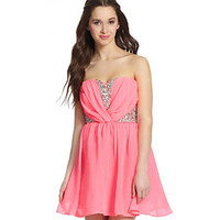 As U Wish Strapless Embellished Dress 					 					 				 			 | Dillard's Mobile