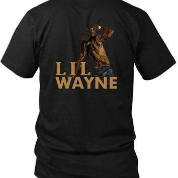 Lil Wayne Stand Up Show 2 Sided Black Mens T Shirt