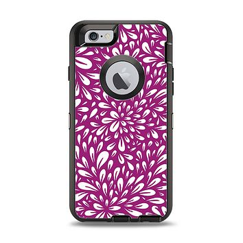 The Purple & White Floral Sprout Apple iPhone 6 Otterbox Defender Case Skin Set