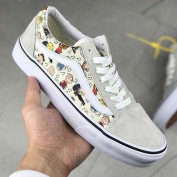 Vans Old Skool Woman Men Canvas Flats Sport Shoes