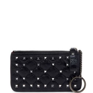 Valentino Garavani - Rockstud Small Leather Key Pouch