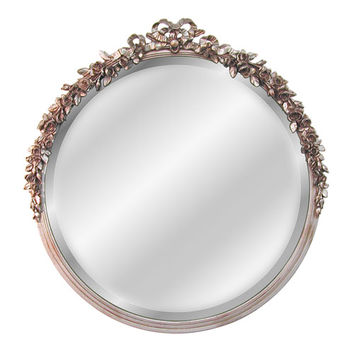 Hickory Manor House 6031V-GS Round Rose Beveled Mirror