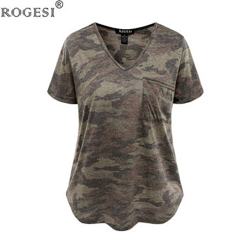 Rogesi 2017 Fashion T-shirts Women Tops T Shirt Women Top Tees Tumblr Blusa Clothes V-Neck Quality AAAAA Cotton