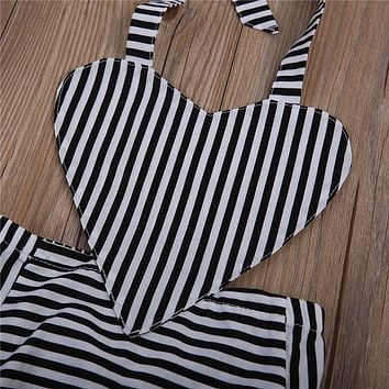 Halloween Baby Girl Clothes Newborn Infant Baby Girls Kids Romper Striped Jumpsuit Outfits Clothes New Gift