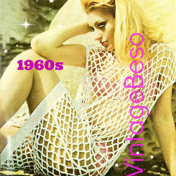 Beach Shift Dress • Cover NOT Conceal • Sexy Fishnet Coverup Crochet Pattern • PdF Pattern • Vintage Ladies Tunic • Digital