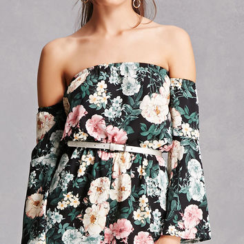 Off-the-Shoulder Floral Romper
