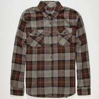 Valor Finn Mens Flannel Shirt Brown  In Sizes