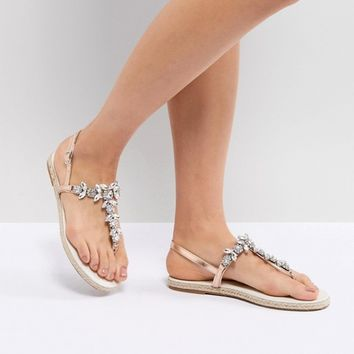 ASOS DESIGN Jude Embellished Espadrille Sandals at asos.com