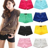 8 Color New Women's Casual Candy Colour Shorts Short Jeans Pants 4 Size #LCMQ = 1958706180